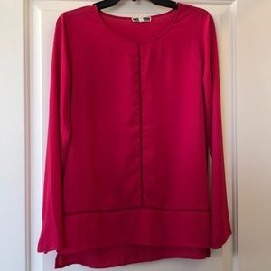 Pleione Pink Long Sleeve Blouse
